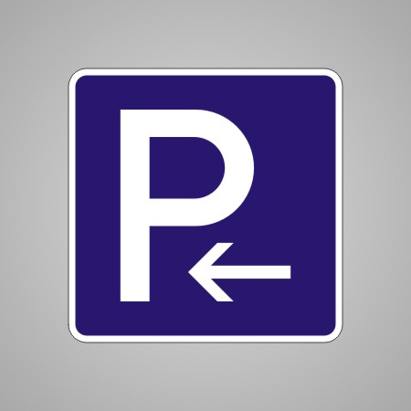 verkehrsschild verkehrszeichen 314 10 parkplatz parkplatzschild mit pfeil links verkehrsschilder. Black Bedroom Furniture Sets. Home Design Ideas
